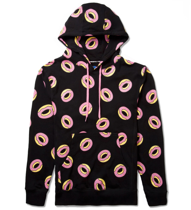 Odd Future Black All Over Donut Hoodie