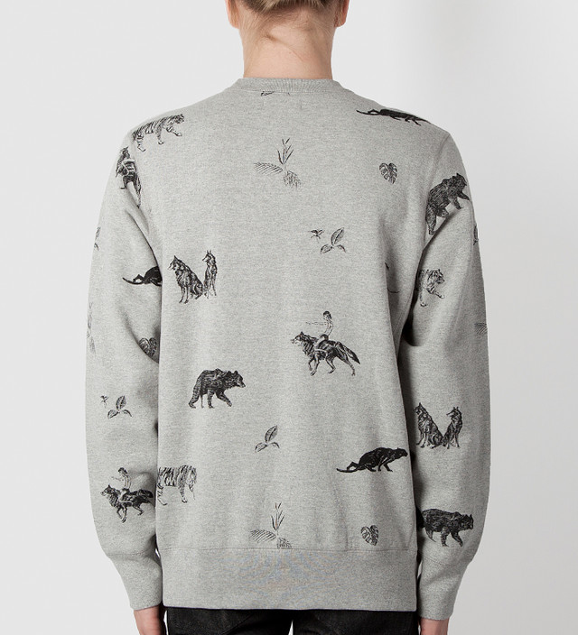 Raised By Wolves Heather Grey The Jungle Book Crewneck