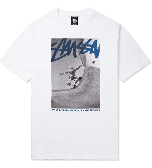 Stussy White Stock Pool SS T-Shirt