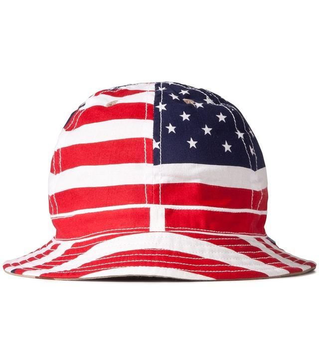 2498de9810b5bf Tantum - American Flag/3 Color Desert Camo Reversible Liberty Bucket ...