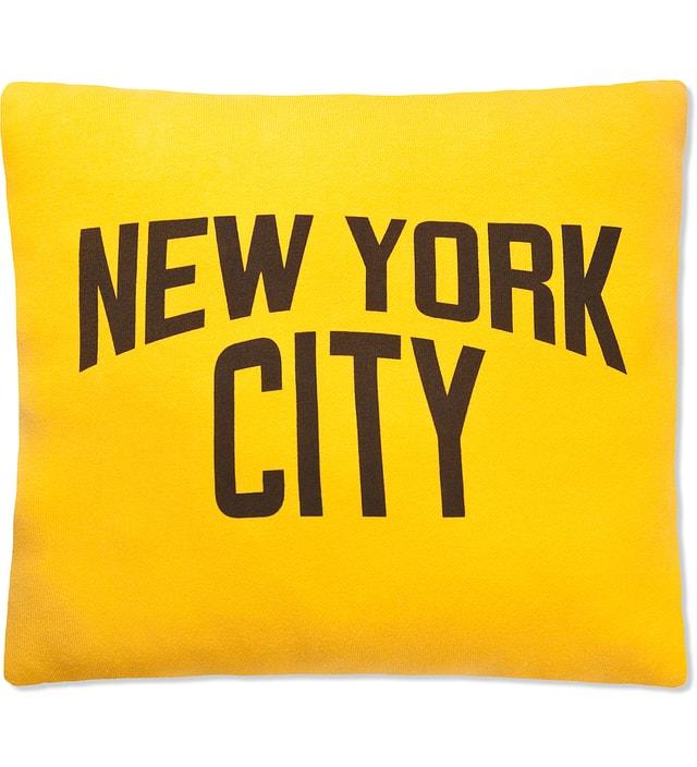 SECOND LAB Yellow New York City Pillow