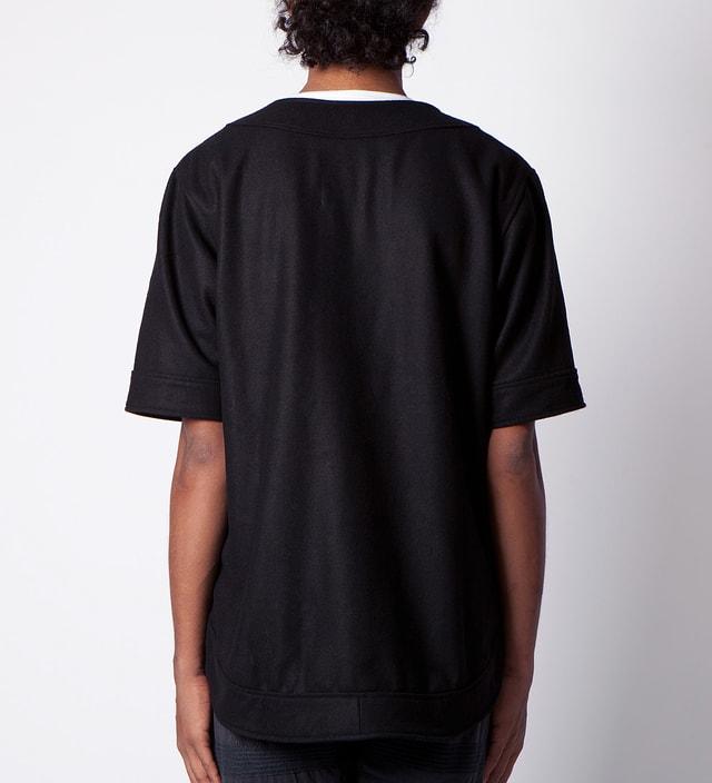 clothsurgeon Black Full Wool Baseball Jersey