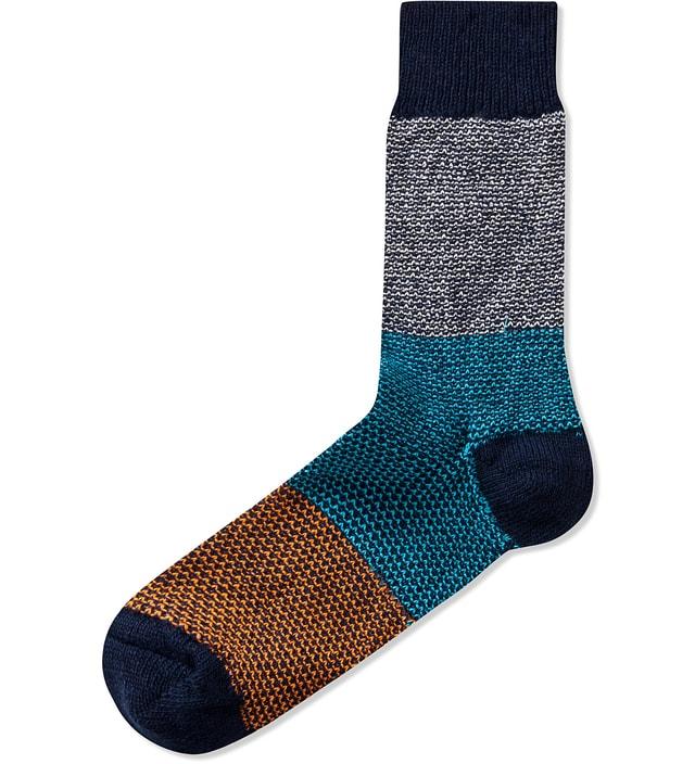 Happy Socks Navy Wool Blend Sock