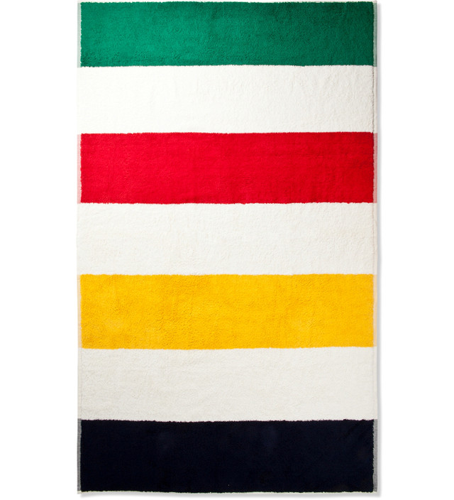 Hudson S Bay Company Extra Thick Striped Beach Towel Hbx