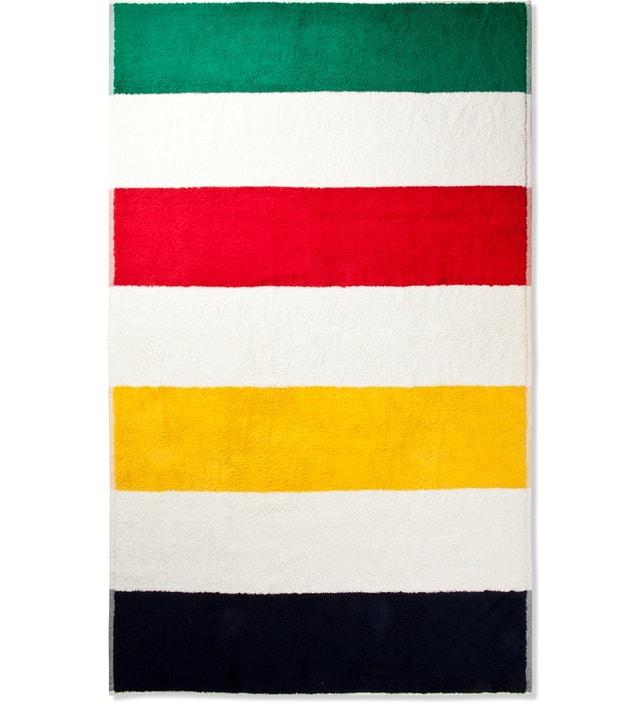 Hudson S Bay Company Extra Thick Striped Beach Towel Hbx