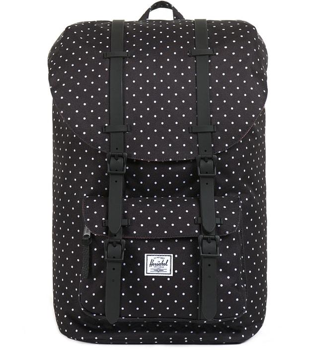 2417a99b86b2 Herschel Supply Co. - Black Polka Dot Little America Backpack
