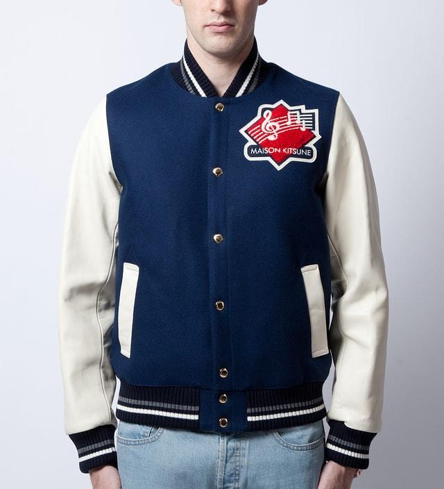 Maison Kitsune Indigo Teddy Jacket