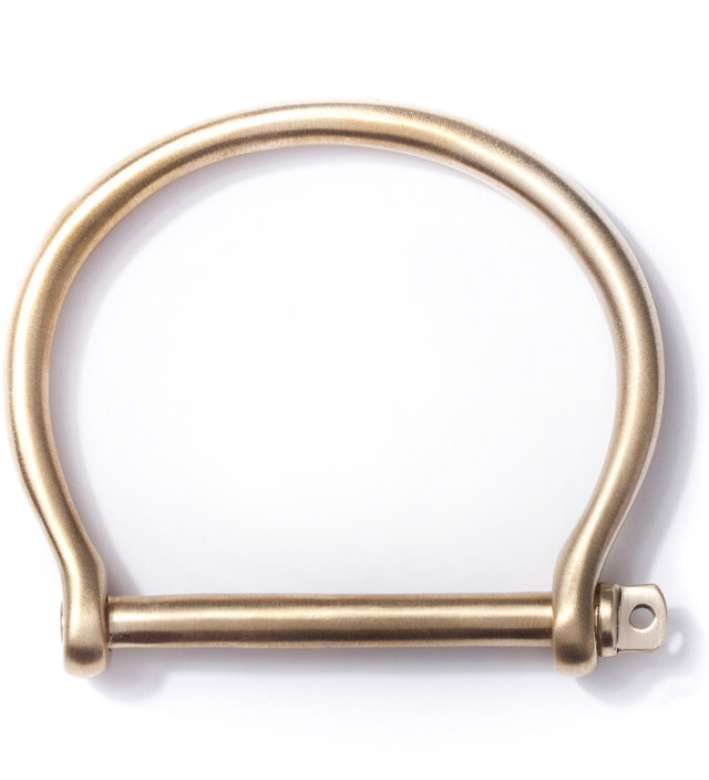 Miansai Brushed Brass Screw Cuff
