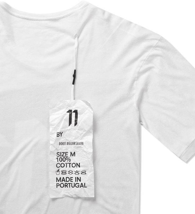 11 By Boris Bidjan Saberi White TS1 P2 F1103 T-Shirt