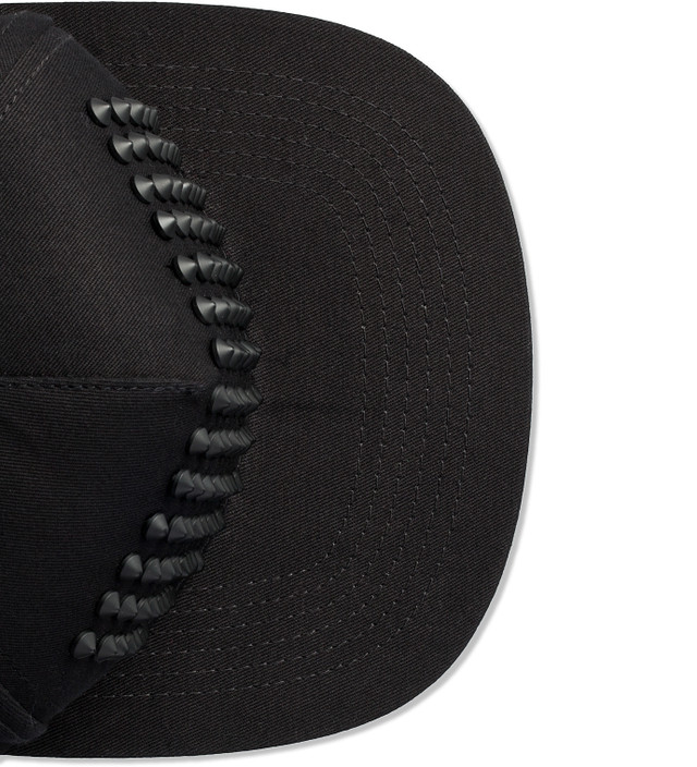 Stampd All Black Studded Snapback Cap