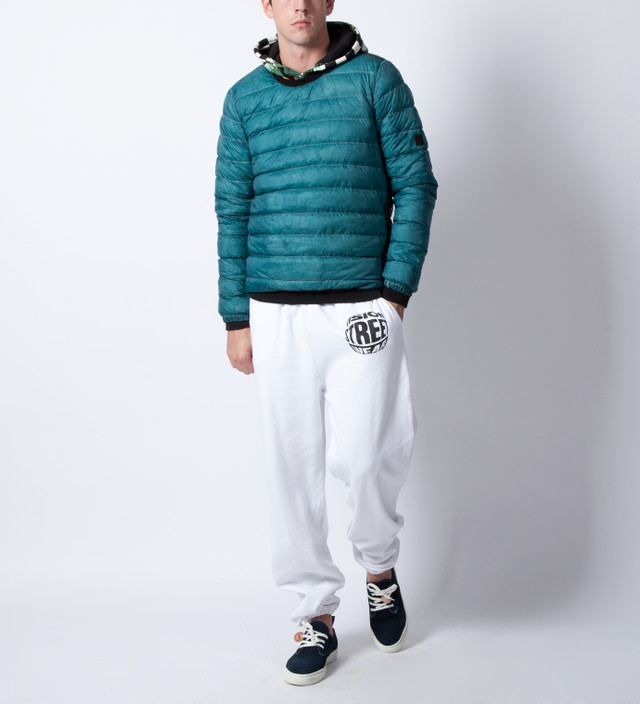 ISAORA Green Down Crew Pullover