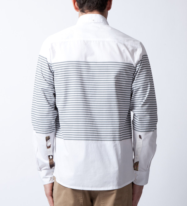 I Love Ugly. Grey Stripe Long Sleeve Shirt