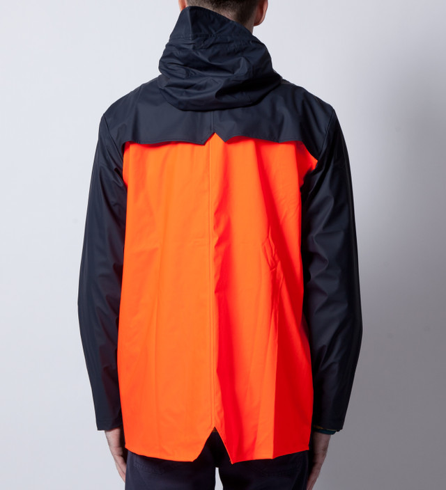 Rains Blue Orange Back Jacket Ltd