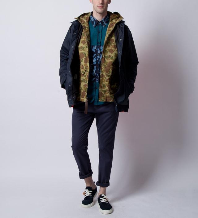 Rains Blue Orange Back Jacket Ltd