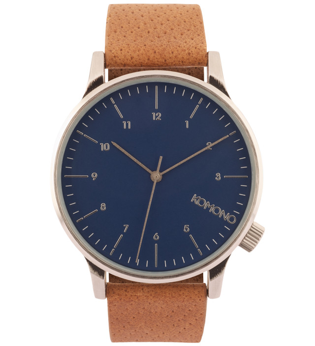 Komono Blue Cognac Winston Watch