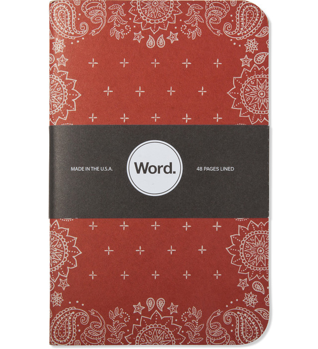 Word. Red Bandana 3 Pack Notebook