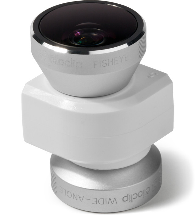 olloclip Silver Lens/White Clip and Black Case olloclip iPhone 5/5s: 4 in 1 Lens + Quick Flip Case and Pro-Photo Adapter