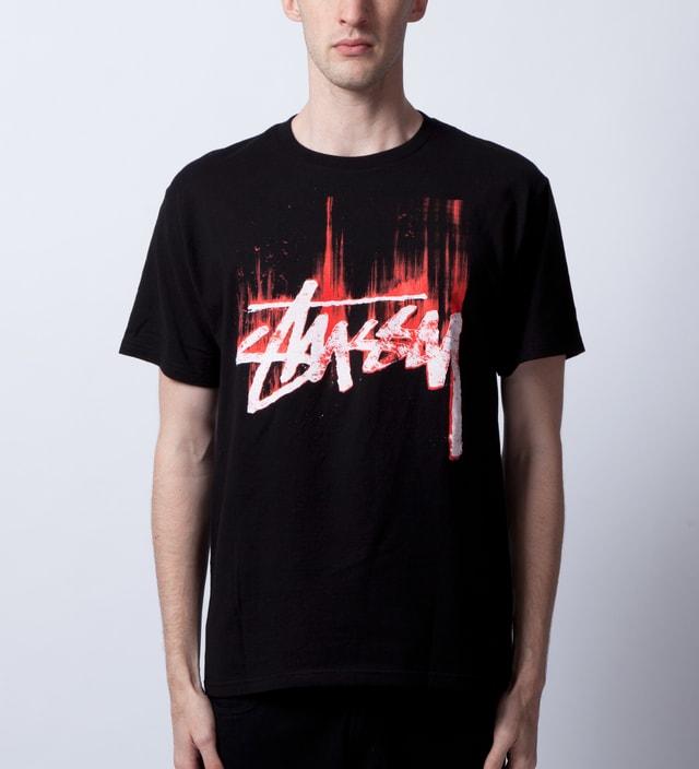 c4d32632 Stussy - Black/Red Stock Paint T-Shirt | HBX