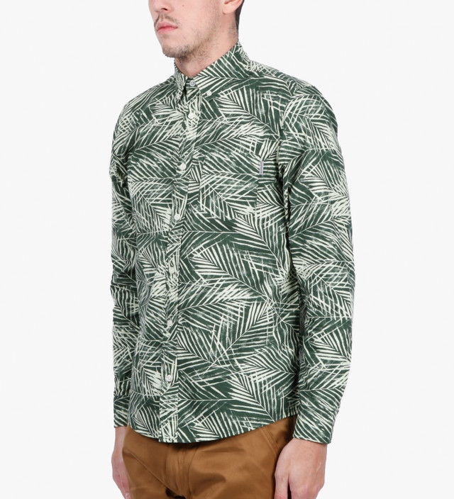 Carhartt Work In Progress Poplin Planet Palm Print Cayman L/S Shirt