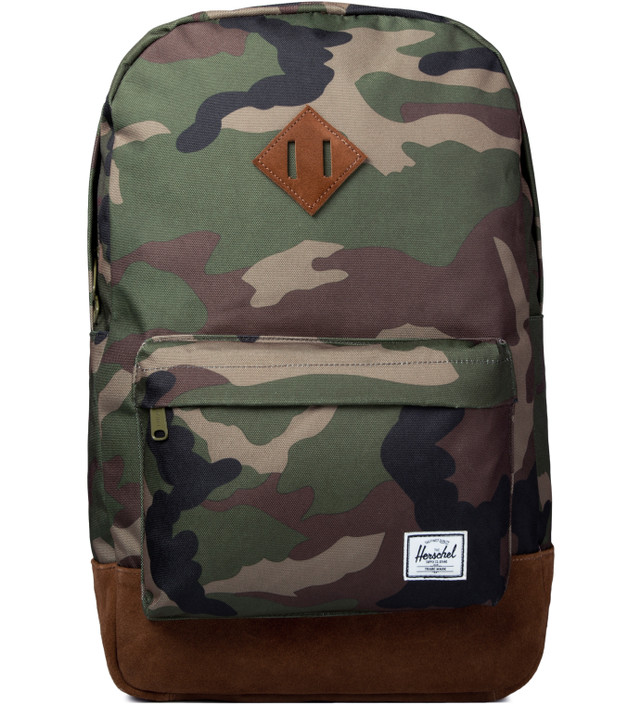 f417a8a71067 Herschel Supply Co. - Woodland Camo Suede Heritage Backpack