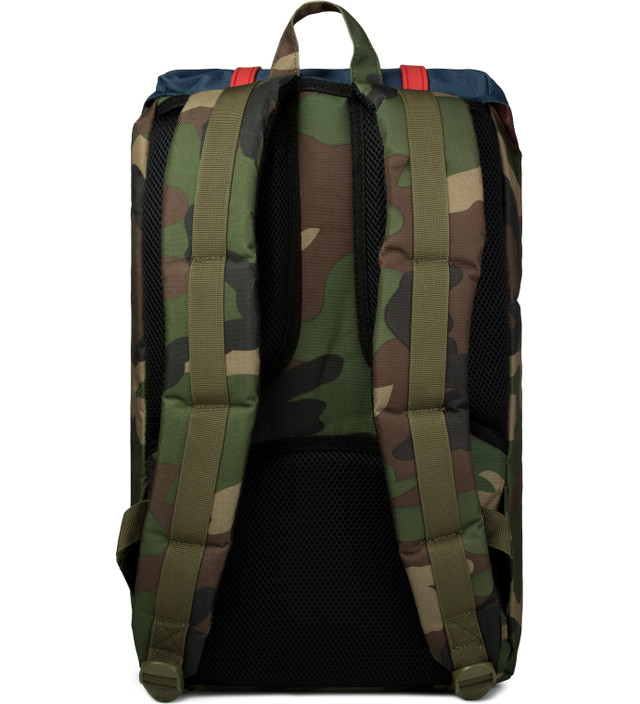 ca16596c16 Herschel Supply Co. Woodland Camo Navy Red Rubber Little America Backpack