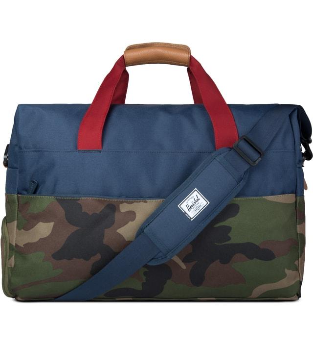 Herschel Supply Co. - Woodland Camo Navy Red Walton Duffle Bag  88e07fd727802
