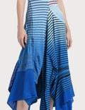 Loewe Asym Stripe Dress Tie Dye
