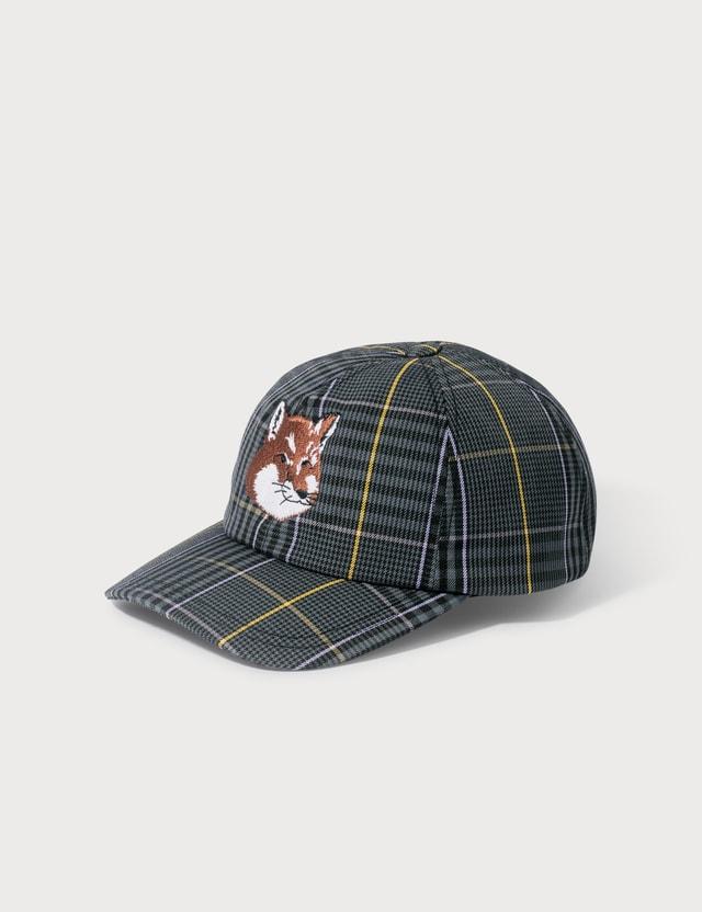 Maison Kitsune Fox Head Embroidered Cap