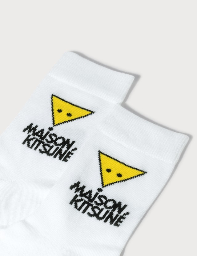 Maison Kitsune Triangle Fox Socks