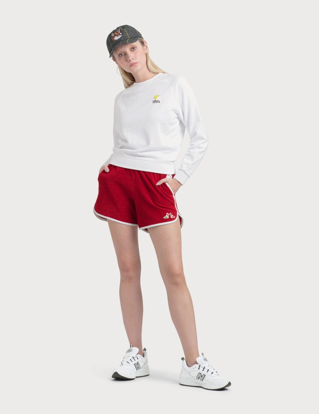 Maison Kitsune Smiley Fox Patch Sweatshirt