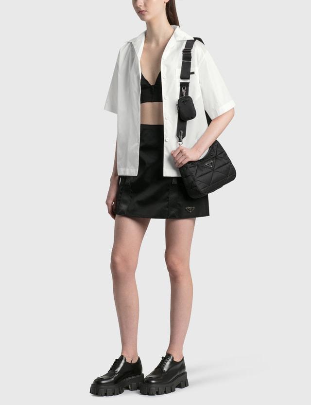 Prada Re-Nylon Gabardine Mini Skirt Nero Women