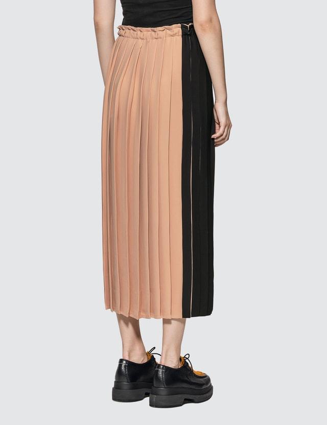 MM6 Maison Margiela M Logo Pleated Skirt