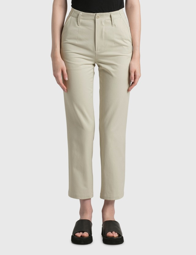 Nothing Written Heavy Cotton Straight Fit Pants White Women