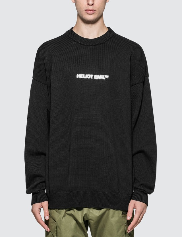 Logo Print Sweater by Heliot Emil