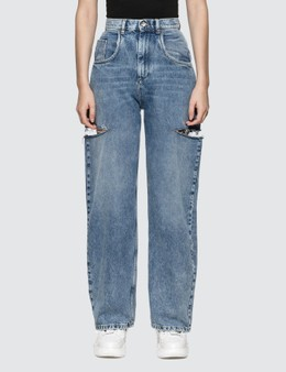 Maison Margiela Denim Jeans With Slash Details