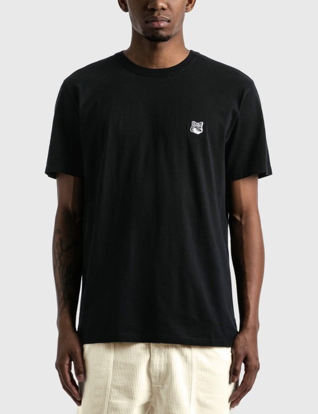Maison Kitsune Grey Fox Head Patch Classic T-shirt Black Men