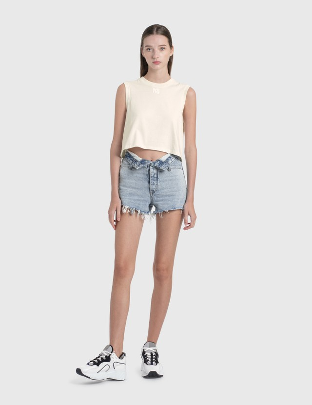 Alexander Wang.T Bite Flip Shorts Pebble Bleach Women