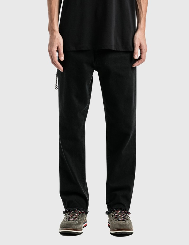 Raf Simons Zipped Pocket Cropped Denim Pants