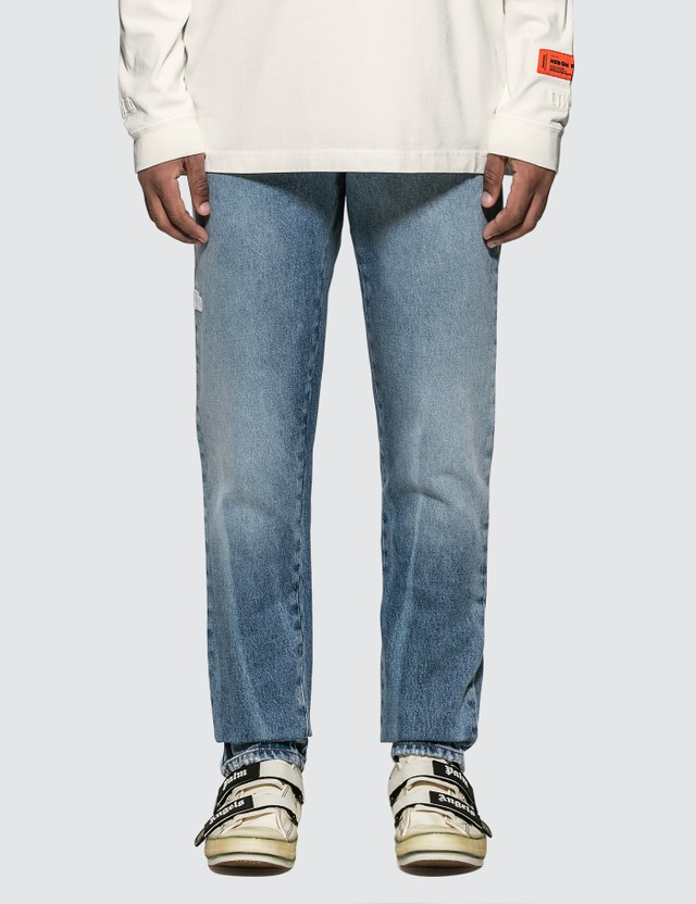 Heron Preston Regular 5 Pockets Washed Vintage Jeans