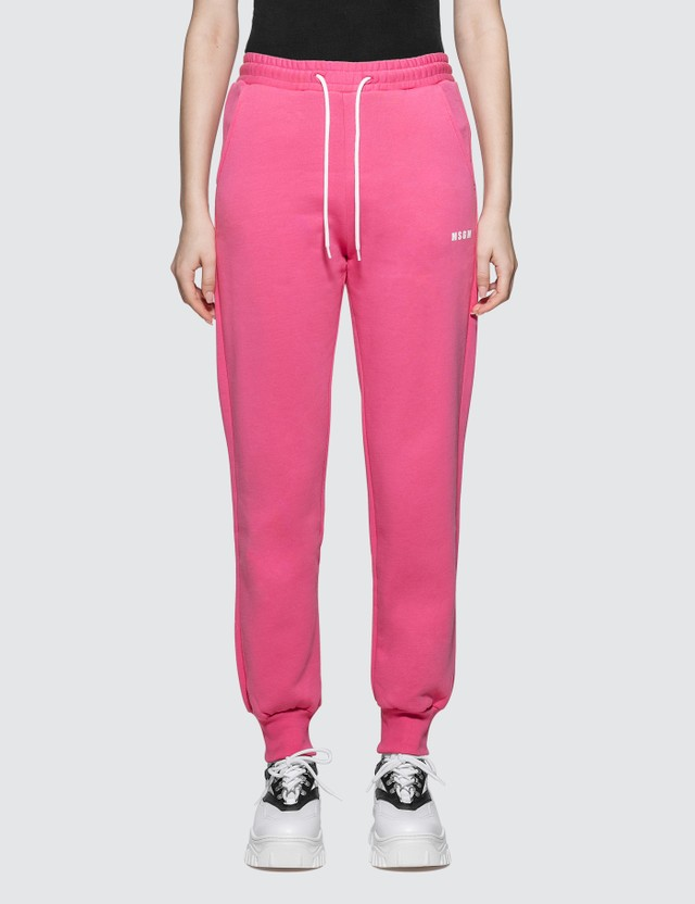MSGM Small Logo Sweatpants Fuchsia Women