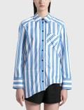 Ganni Organic Cotton Asymmetrical Wavy Shirt Picture