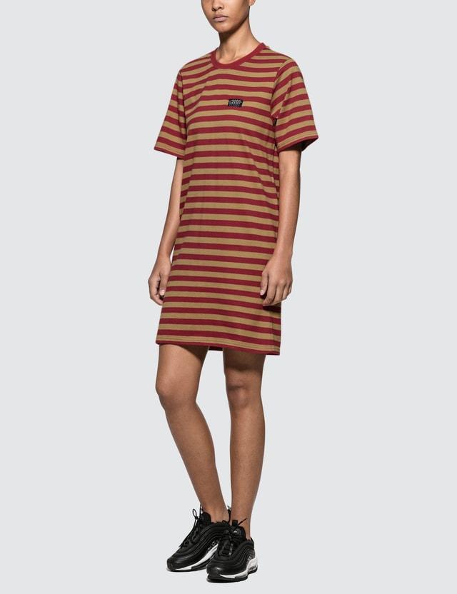 Stussy Murrat Stripped T Shirt Dress