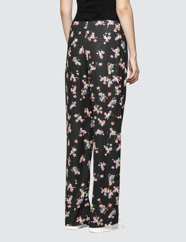 Maison Margiela Kawai Print On Fluid Poly Cadt Pants