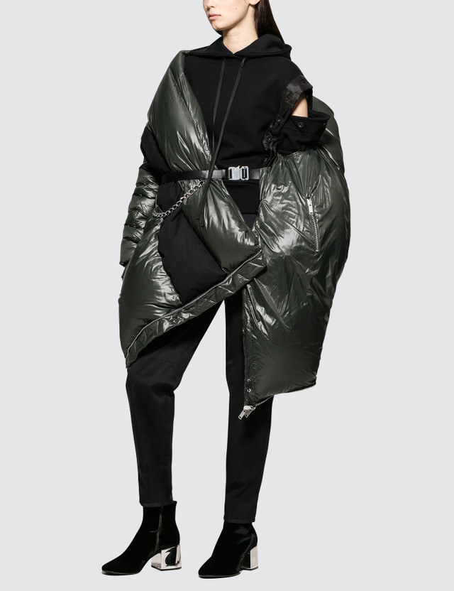 Unravel Project Shiny Down Puffer Cape