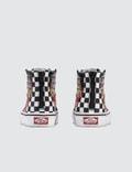 Vans Sk8-HI Zip Kids (race Flame) Black/racing Red/true White Kids