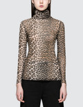 Ganni Tilden Mesh Turtleneck Top Picture