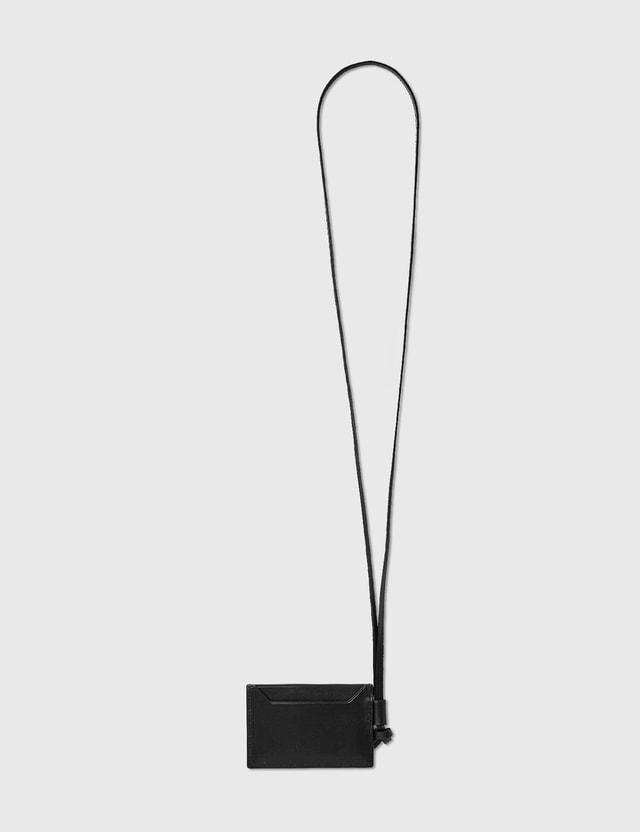 Loewe Plain Cardholder Necklace Black Men