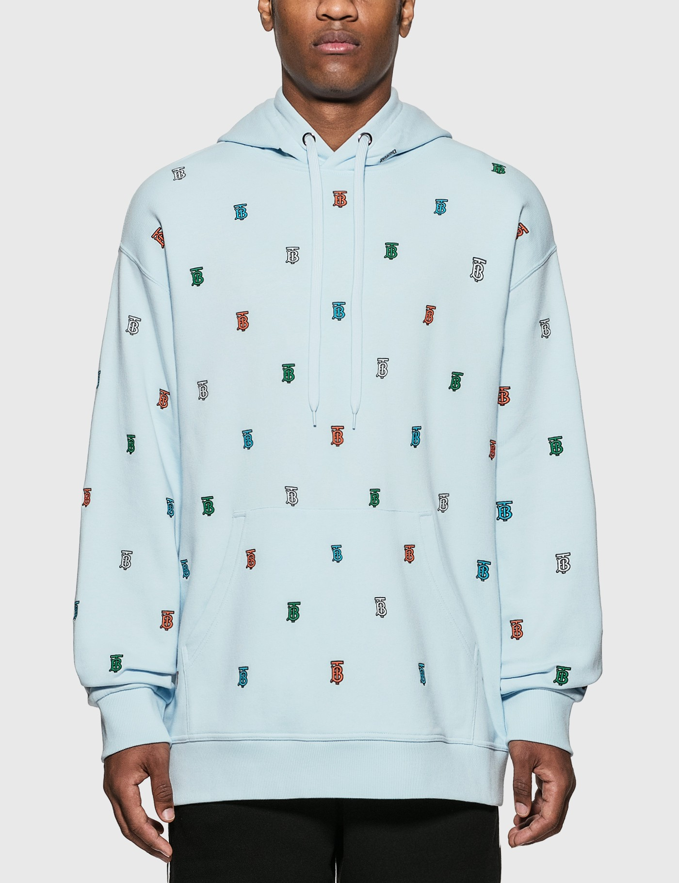 Monogram Motif Cotton Hoodie