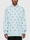 Burberry Monogram Motif Cotton Hoodie Pale Blue Men