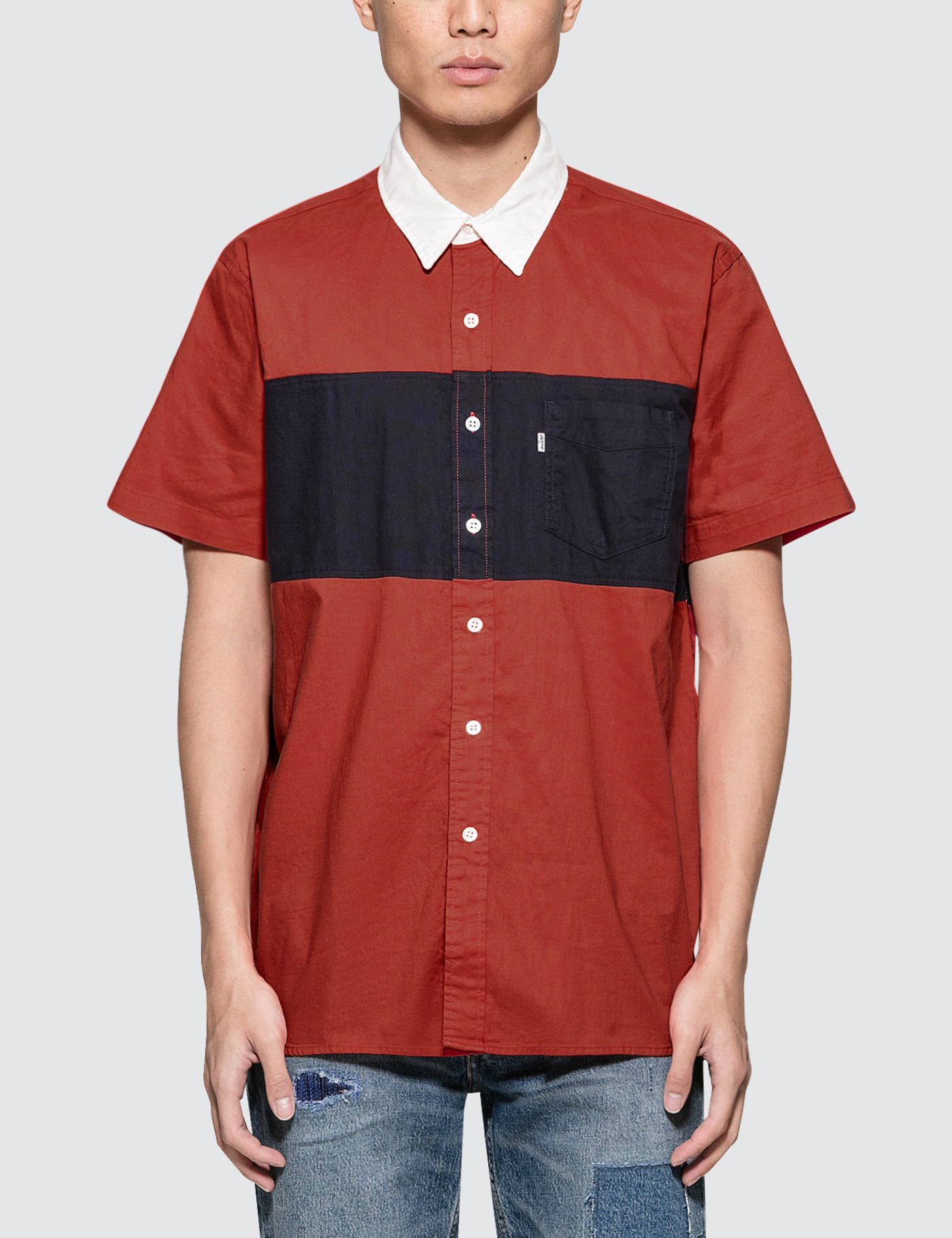 Pieced S/S Shirt